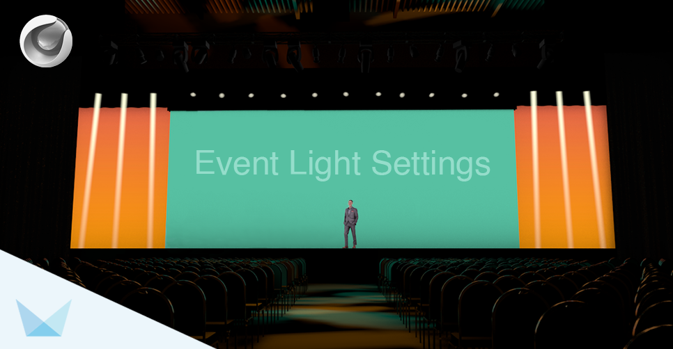 Event Light Settings in Cinema 4D