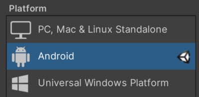 Unity Android Build Settings